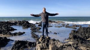 Andy Swindler on the Pacific Ocean